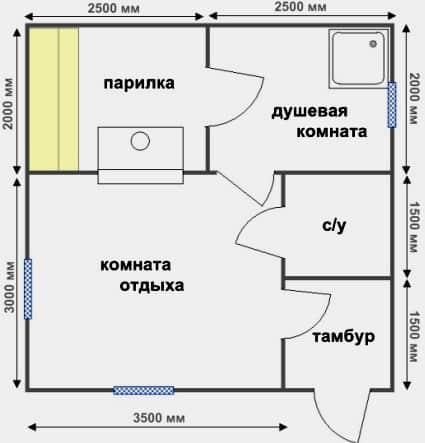 планировка традиционная