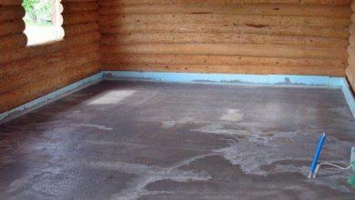 полы из бетона в деревянном доме