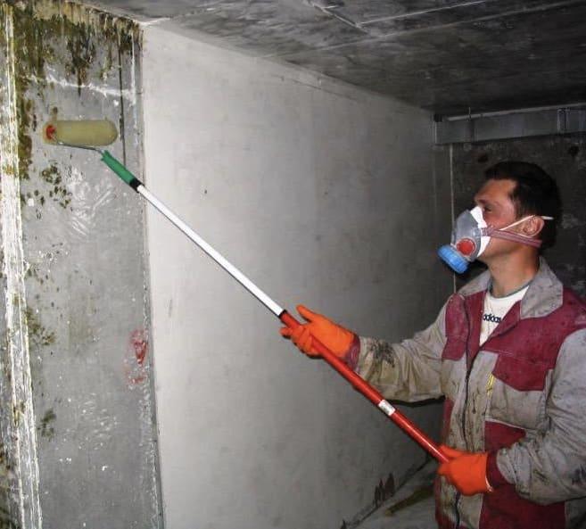 обработка стен грунтовкой