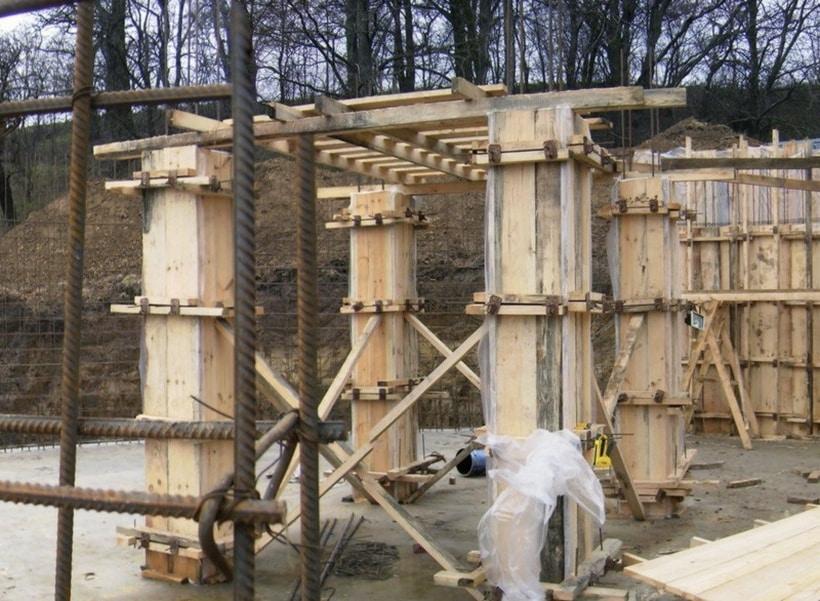 деревянная опалубка