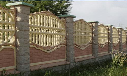 Конструкция декоративного забора