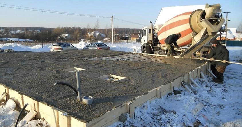 бетонирование в минусовую погоду
