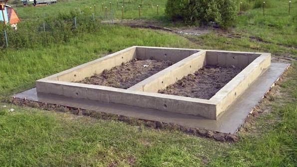 готовый бетонный фундамент