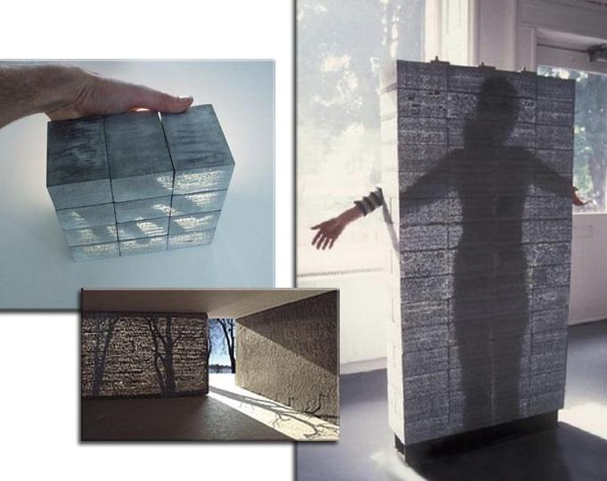 применение прозрачного бетона