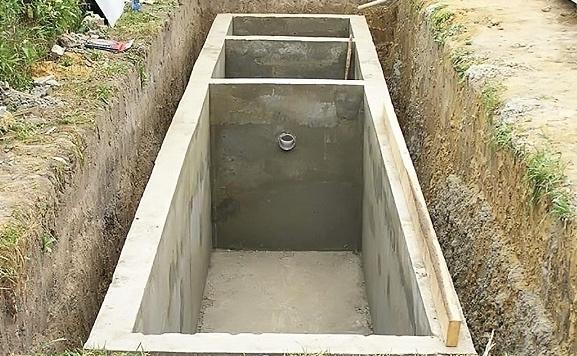 септик бетонный монолит