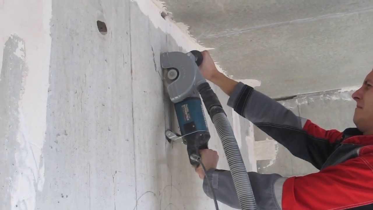 Штроборез по бетону