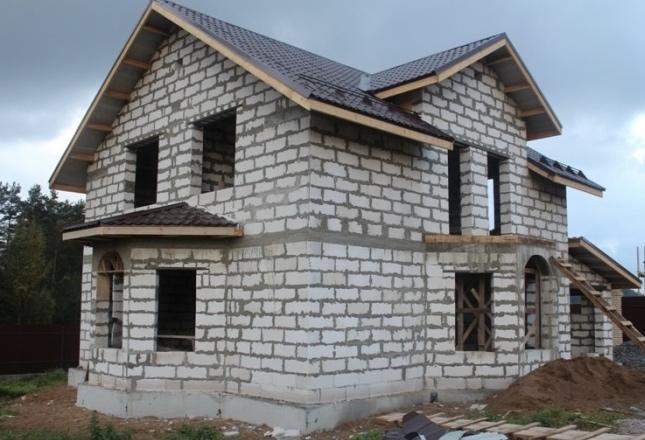газобетон дом