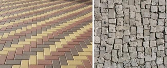 плитка или тротуарка