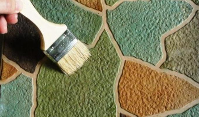 Покраска бетонной дорожки