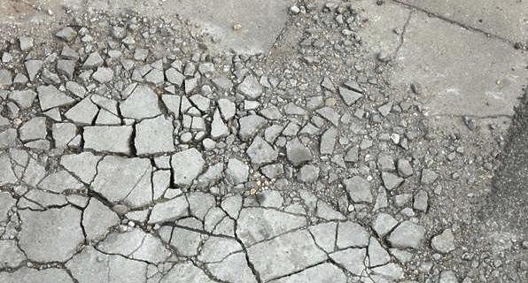 проблемы бетоной дорожки