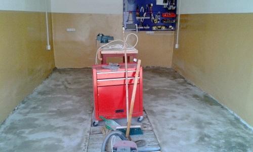 Пыль и дефекты на бетонном полу