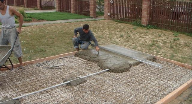 бетонирование двора