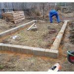 Фундамент из блоков и кирпича
