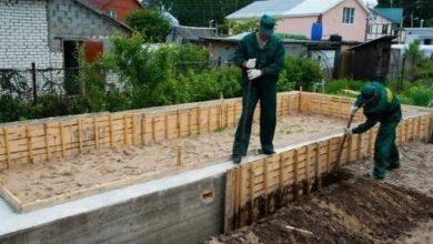 Снятие опалубки после заливки бетона