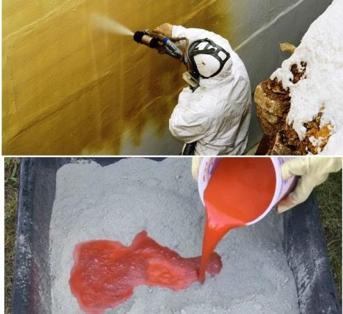 Методы окрашивания бетона