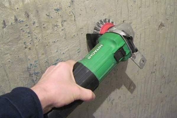 Удаление акрила с бетона