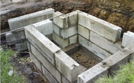 погреб из фундаментных блоков
