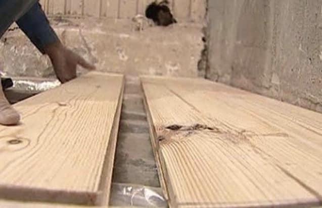 укладка дерева на бетон