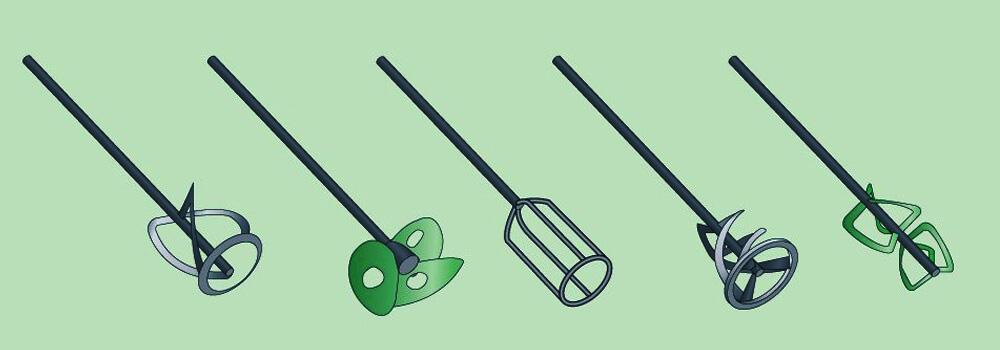 Три типа венчиков строительного миксера