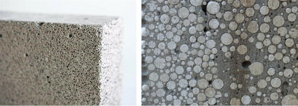 Два вида лёгкого бетона