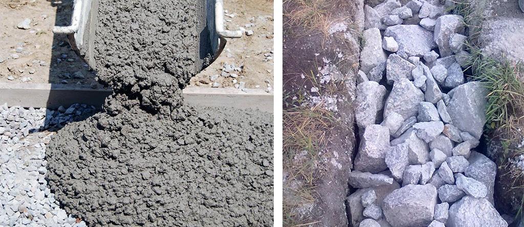 Два типа бетона для ленточного фундамента