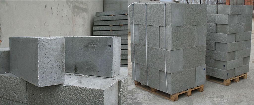Блоки для строительства из легковесного бетона
