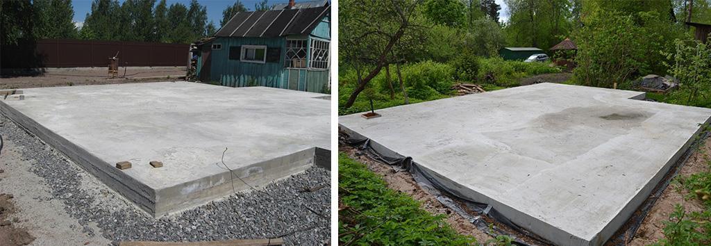 Незаглубленный ленточный фундамент из монолитного бетона