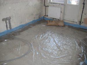 Подготовка пола к заливке бетонной стяжке