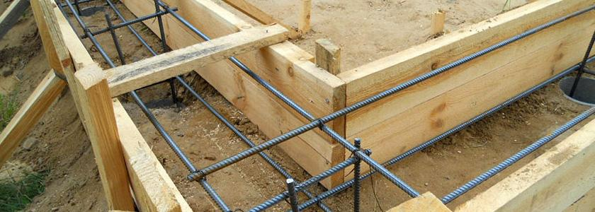 Опалубка ленточного фундамента для забор