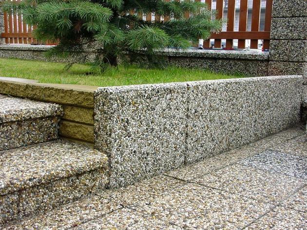 что такое мытый бетон