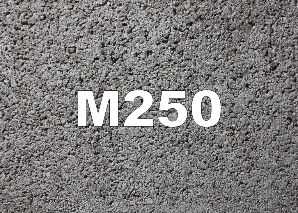 характеристики бетона м250