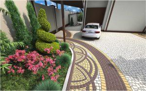 Окрашенная тротуарная плитка