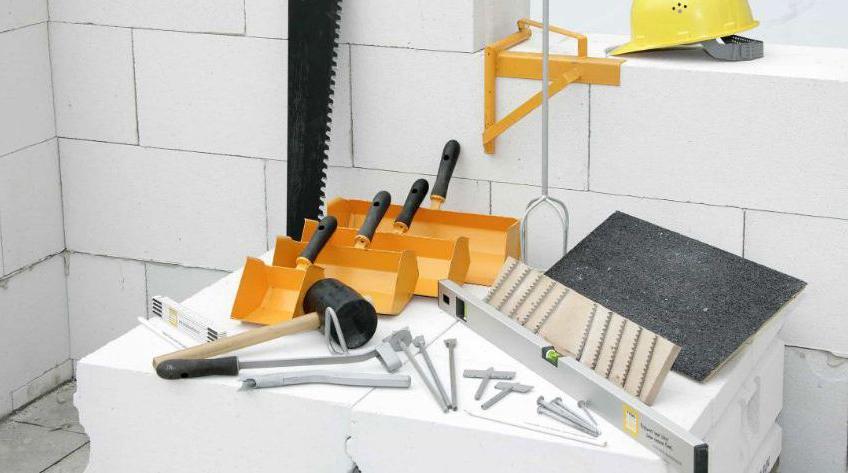 инструменты для кладки газобетонных блоков