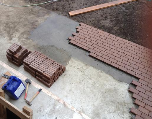 кладка тротуарной плитки на бетон