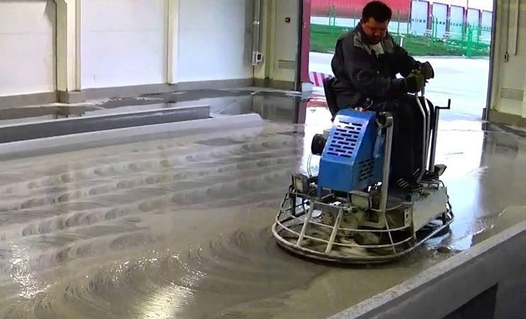 мокрая шлифовка бетона