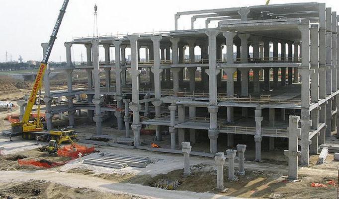 монтаж железобетонных колонн