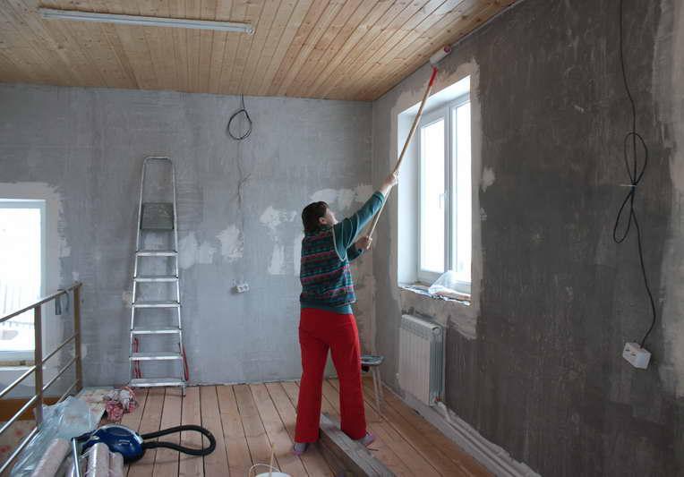 подготовка бетона под обои