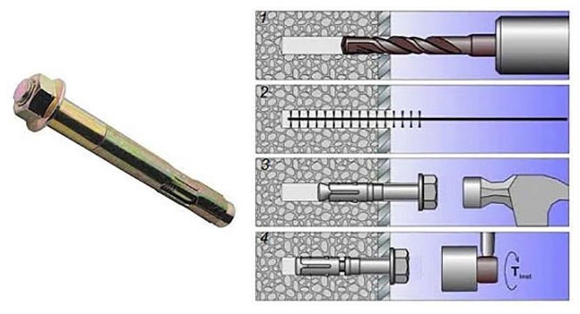 разные виды нагелей по бетону