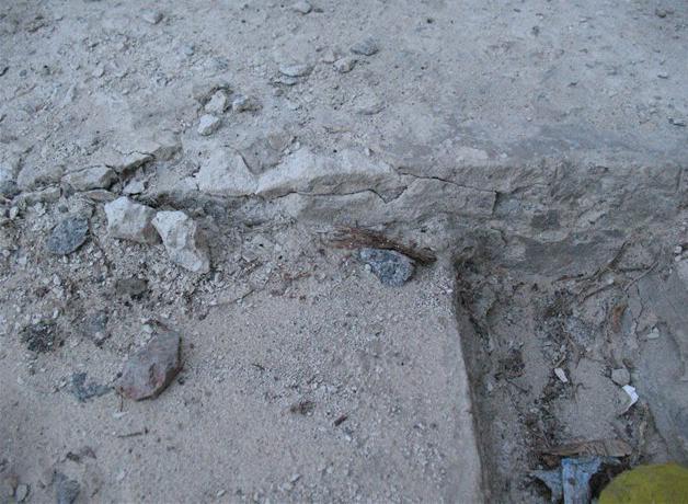 цемент залитый в дождь
