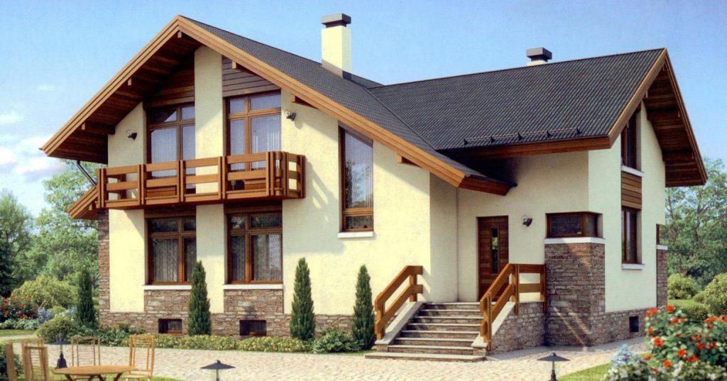 вариант отделки фасада газобетонного дома