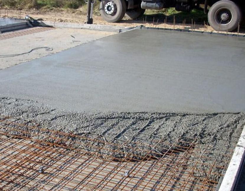 застывший бетон