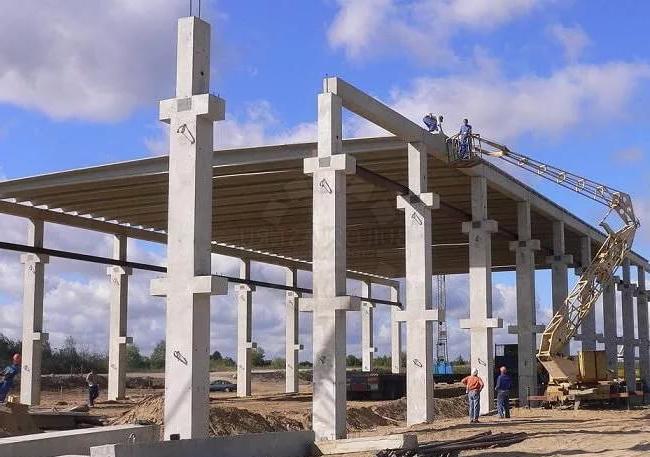 Строительство железобетонных колонн