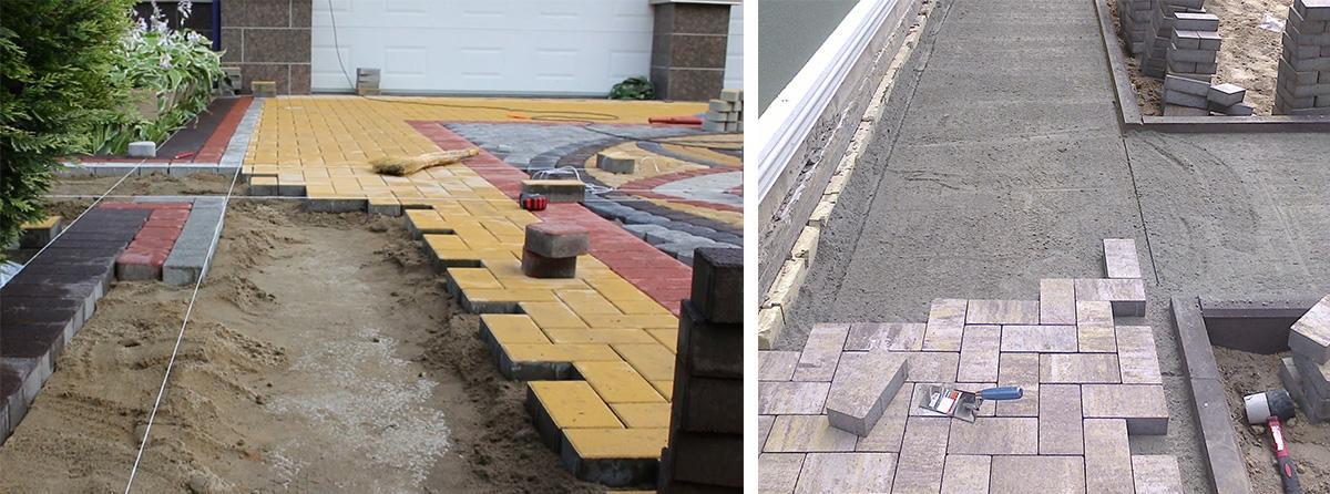Два типа оснований для тротуарной плитки