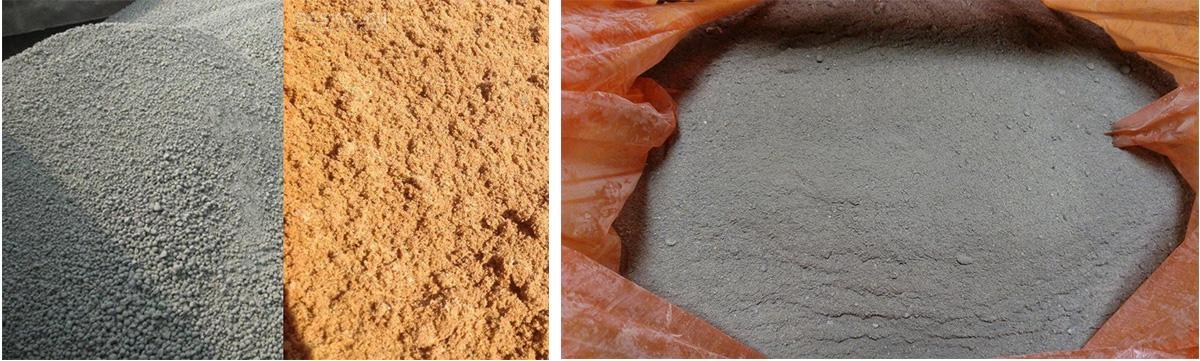 Сухая смесь цемента и песка