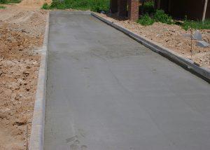 Бетонное основание под укладку тротуарной плитки