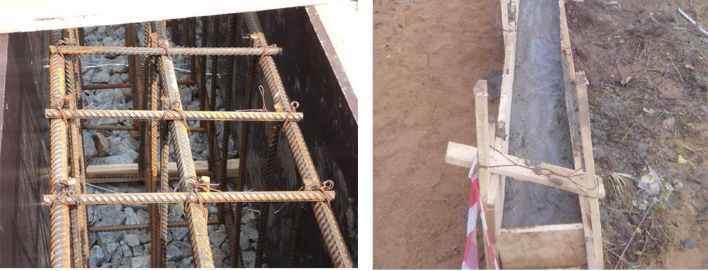 Заливка бетонной смеси в опалубку