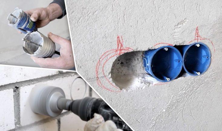 фиксация подрозетников в бетон