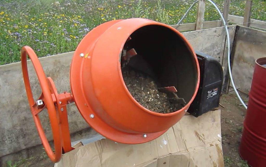 как приготовить бетон в бетономешалке