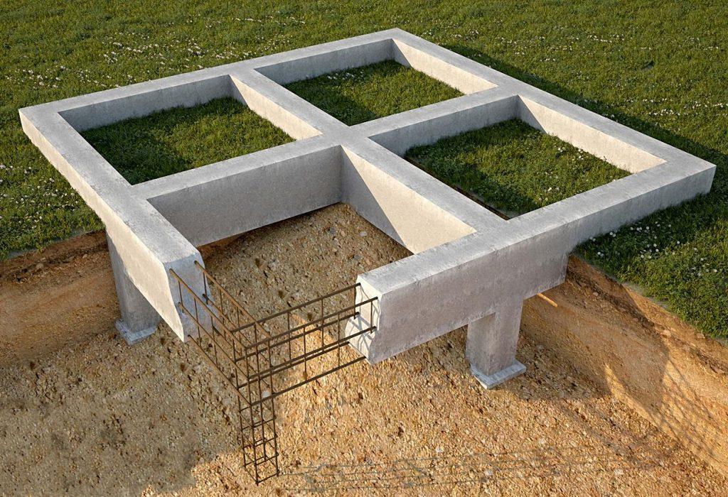 ленточный фундамент конструкция