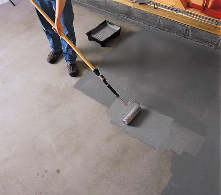 нанесение пропитки для защиты бетона